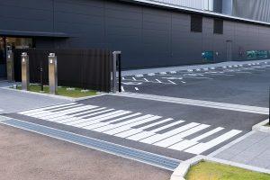 鍵盤デザインの横断歩道